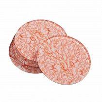 Orange Coral Coasters