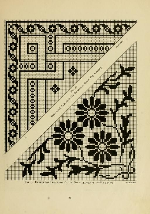The Priscilla filet crochet book - filet crochet patterns - dunno if I will ever want to attempt these (it's so tedious) but just in case