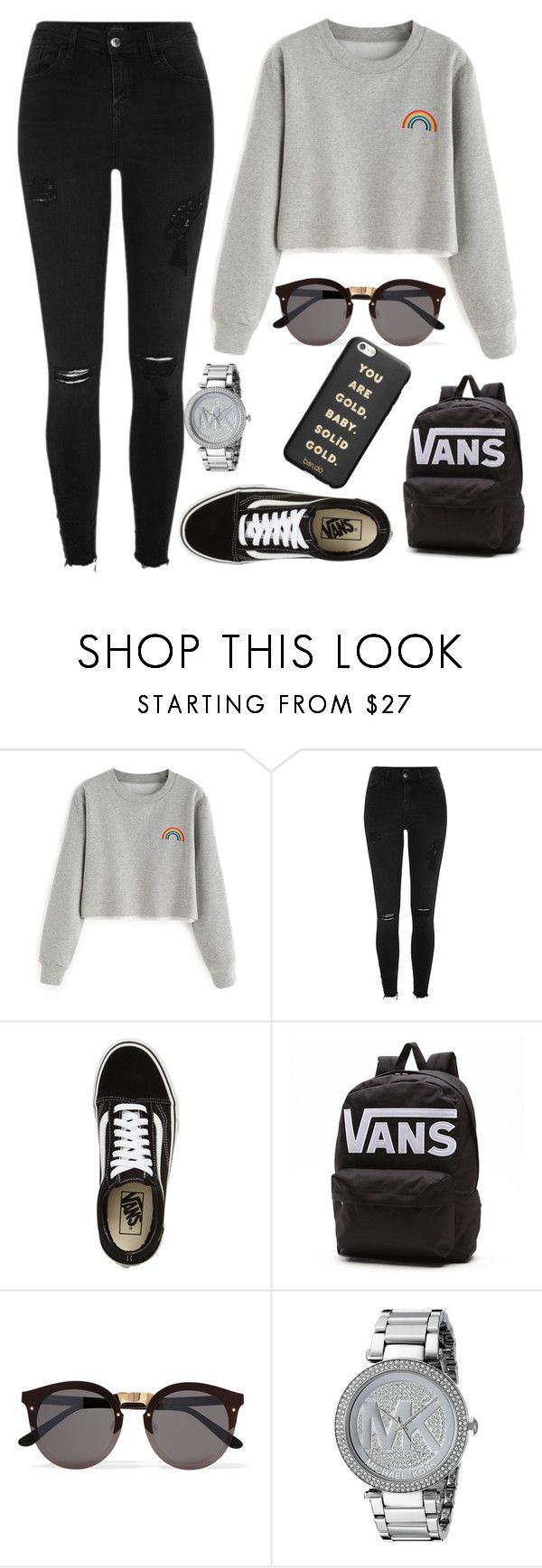"""Untitled #106"" by alexanutella on Polyvore featuring River Island, Vans, Illesteva, Michael Kors and ban.do"