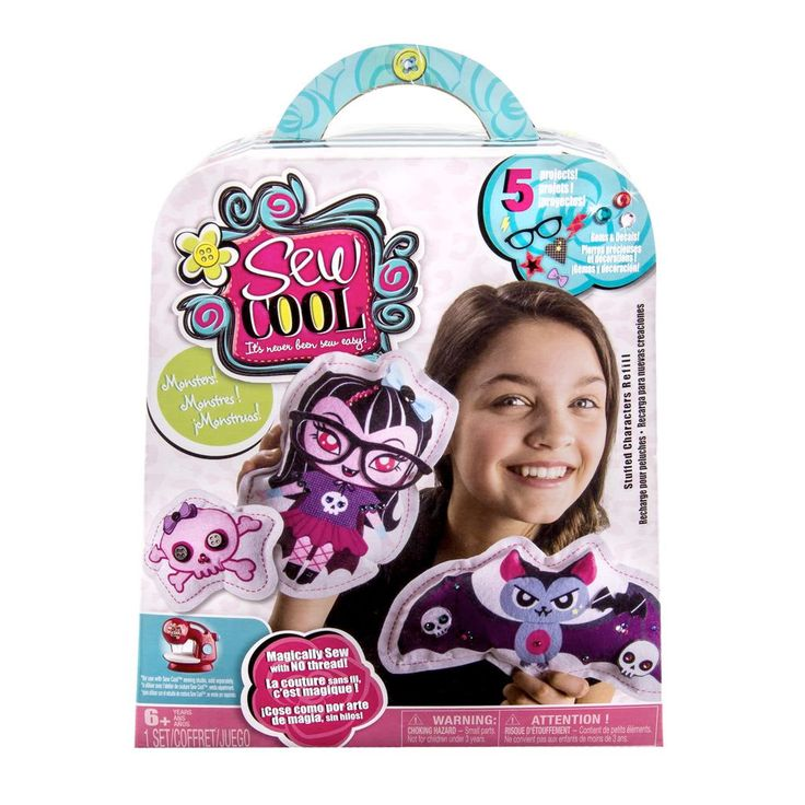 The Sew Cool sewing studio's unique threadless technology is the safe and simple way for young girls to learn new creative skills. Description from spinmaster.com. I searched for this on bing.com/images
