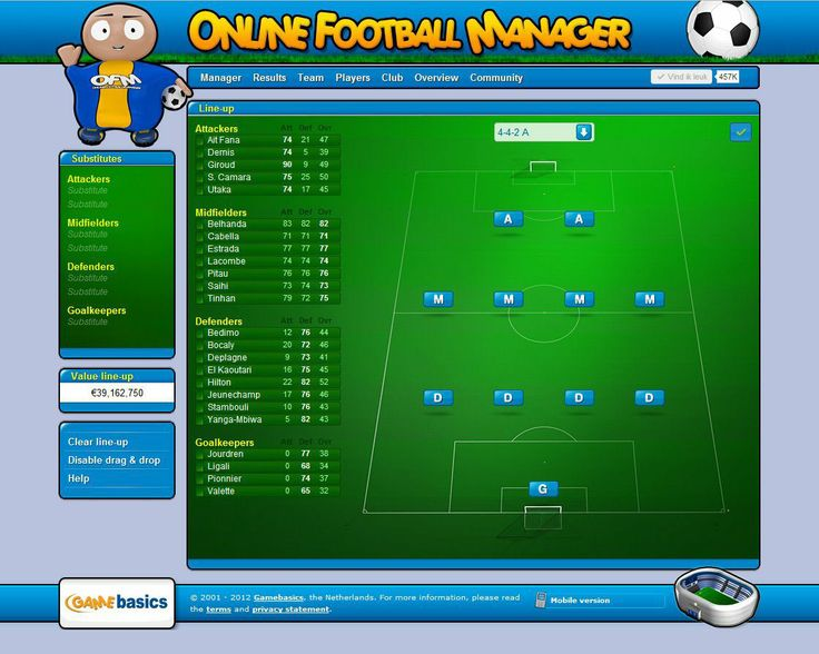 Myfootballmanager.net is one of the best Online Football Manager Game. Register and become manager of your own football club.