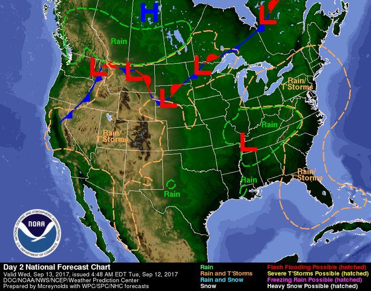 Melhores Ideias De Local Weather Map No Pinterest Gráfico - Us weather map gre