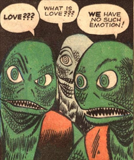 """""""Love...What is love?"""" Funny Vintage Comic Book Art."""
