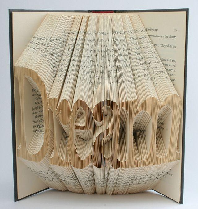 The  Best Folded Book Art Ideas On   Book Art Book
