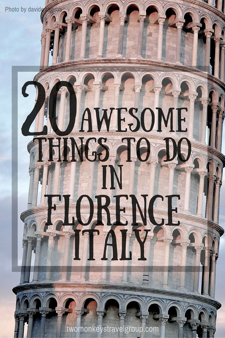 10 Awesome Things to do in Florence, Italy  A trip to Florence is a dream-come-true. This historic Italian city is overflowing with classic art, intriguing architecture, beautiful views, and delectable cuisine.    Whether you visit for a weekend or stay for a few months, your time in Florence is sure to be memorable. To make the most out of your trip, check out this list of awesome things to do in Florence, Italy.