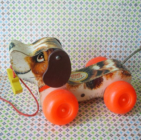 snoopy fisher price pull toy