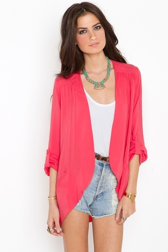 spring style. Love the burst of color with the jacket and the turquoise too!