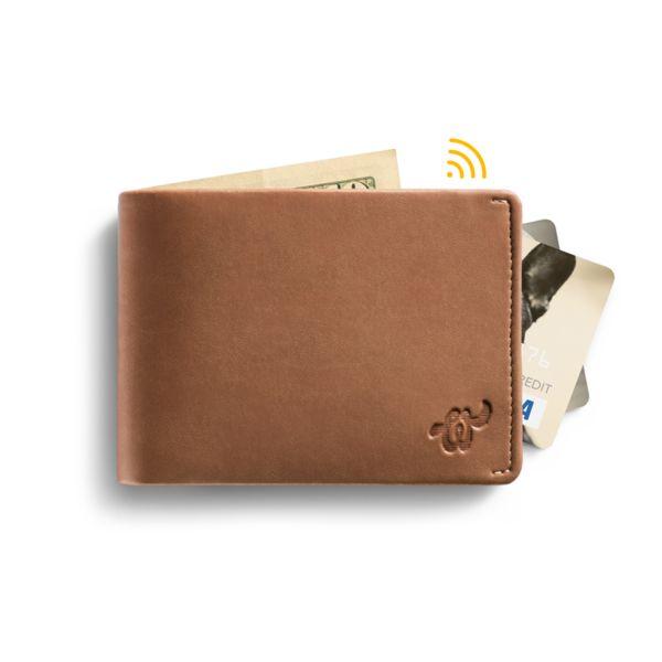 Eco Woolet Brown - slim, smart wallet
