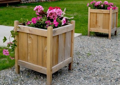 Cedar Planters for less than $20!....mine will be free- ty pallets! !