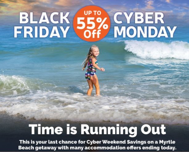 Cyber Weekend Sale Continues Buy The Gift You Really Want A Getaway To Myrtle Beach Https B Myrtle Beach Attractions Cyber Monday Travel Deals Myrtle Beach