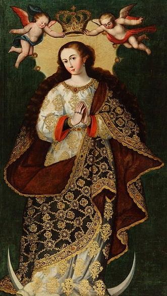 Inmaculada Concepción. Escuela de Cuzco. S. XVII.
