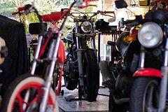 Garage Shots (ljblk) Tags: canon honda garage shed workshop motorcycle suzuki vtr250 xr600 40d gs125