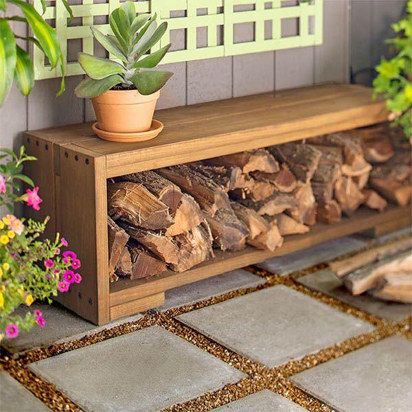 Best Outdoor Firewood Rack Ideas On Pinterest Wood Rack - Creative firewood storage ideas turning wood beautiful yard decorations