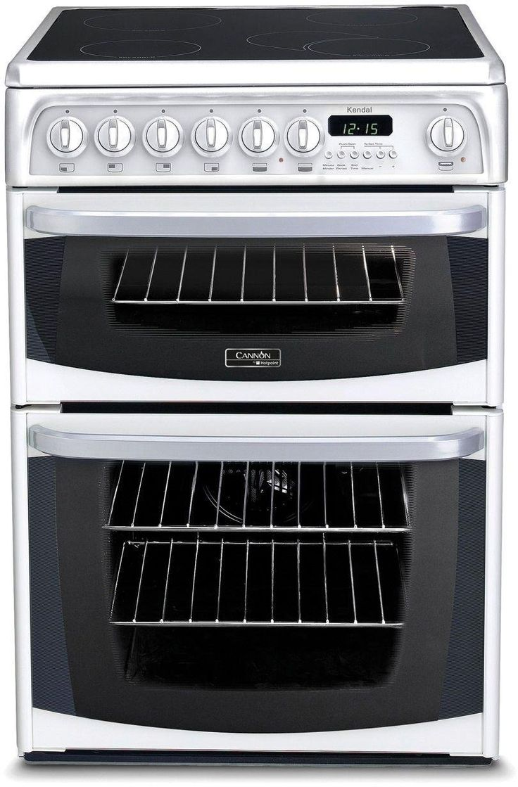Marvelous Hotpoint CHEKWS Electric Cooker White The Hotpoint CHEKWS Electric Cooker has two ovens