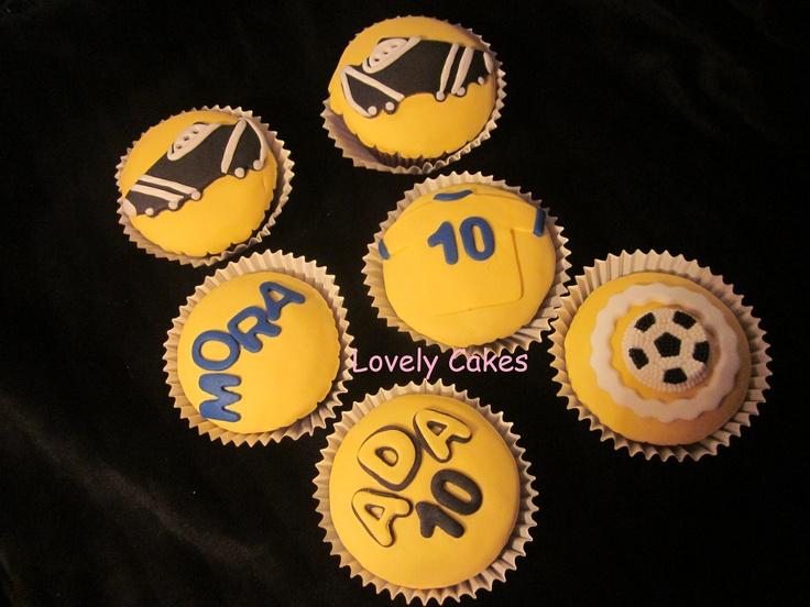 Cupcakes de futbol: Cupcakes De Batata-Doc, Cupcakes Rosa-Choqu