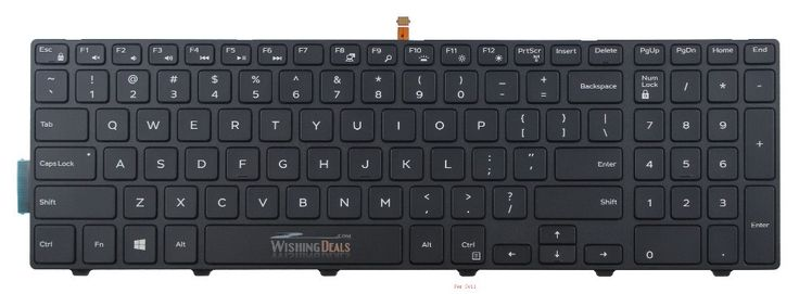 New For Dell Inspiron 15 5000 Series 15 5551 5552 5555 5558 5559 7559 keyboard US layout black color with backlit free shipping