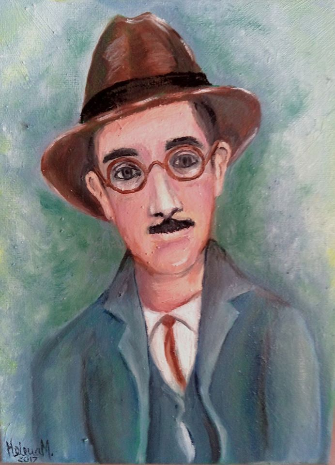 Fernando Pessoa - óleo s/ tela