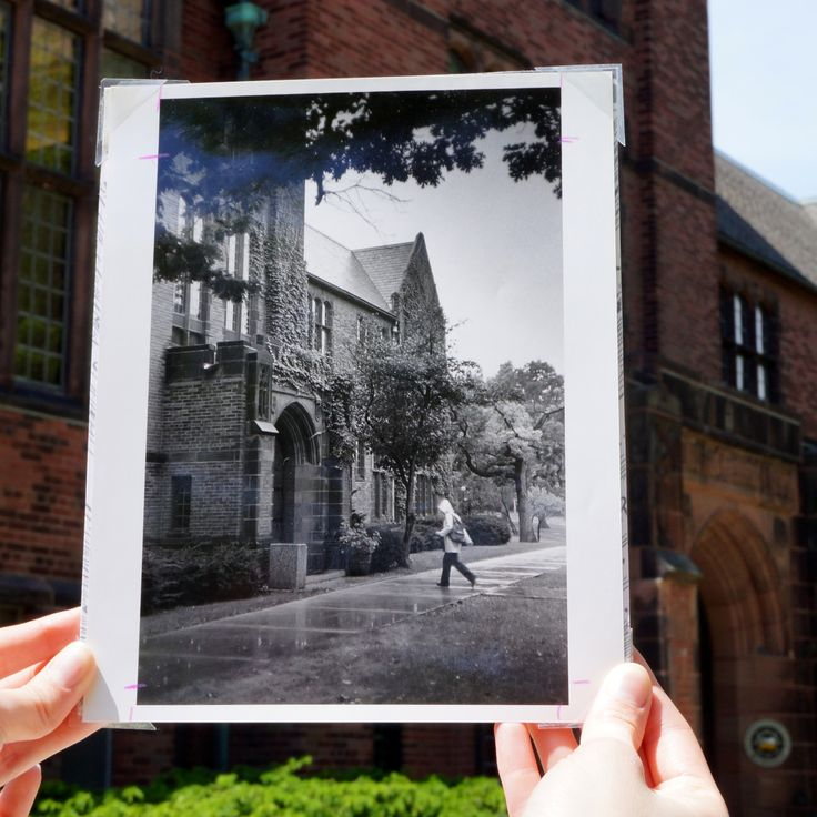 On rare occasions, our photographs find their way out of the archives and into the verdant campus for a little #tbt action.