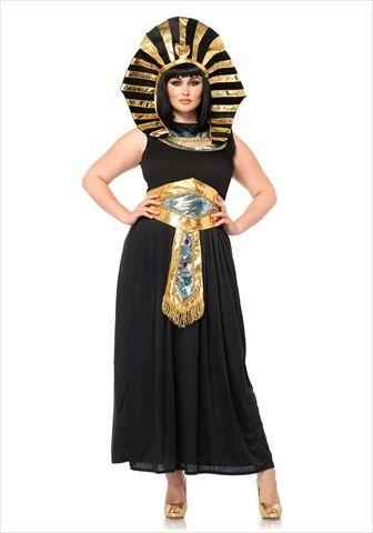 4 Piece Queen Tut Costume Set Size 3X-4X Black  Plus Size Halloween Costumes 2014 http://bigcurvylove.com/2014/09/06/plus-size-halloween-costumes-2014/  #plusssize #halloween