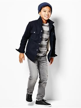 Kids Clothing: Boys Clothing: Featured Outfits New Arrivals | Gap 40% 0ff online purchases only!  Ends today! Code SHOP
