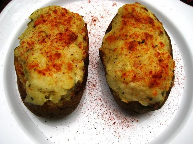 Twice-Baked Potatoes With Blue Cheese and Rosemary.