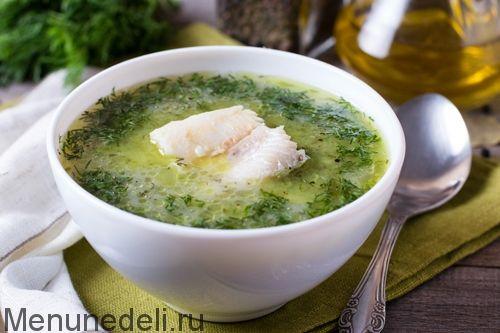 Укропный суп с морской рыбой (весенний суп) - Вода — 1 л   Филе рыбное — 400 г (филе белой морской рыбы)  Морковь — 1 шт.   Сельдерей корневой — 0.25 шт. (примерно 100 г.)  Лук репчатый — 1 шт.   Укроп — 20 г свежий  Йогурт — 200 г без добавок  Мука — 1 ст.л.   Масло оливковое — 2 ст.л.   Соль — по вкусу