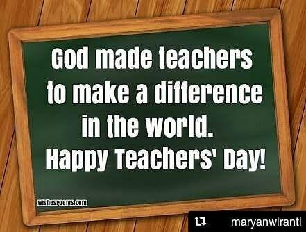 #Repost @maryanwiranti (@get_repost)  Selamat hari guru  . Aku tanpamu butiran debu. Semoga surga balasan jasamu.