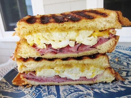 Ham, Egg & Cheese Panini #breakfast