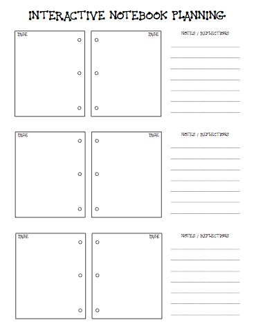 School of Fisher: Interactive Notebook Planning