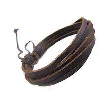 Genuína pulseira de couro homens para as mulheres retro punk pele de vaca pulseiras homme 100% feito à mão pulseras hombre(China (Mainland))