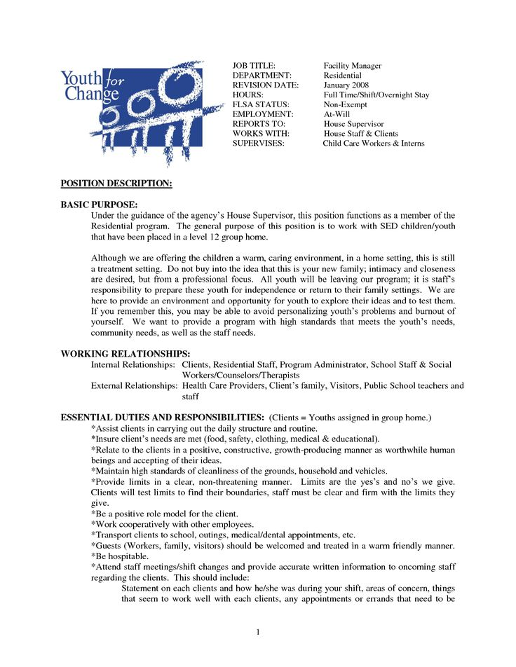 Cleaning Business Resume And Job Description House