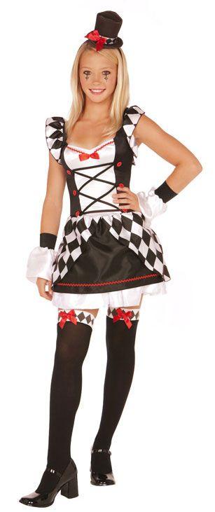 homemade tween clown costumes men teens halloween costumes teen halloween costumes pretty clown girl - Girl Clown Halloween Costumes