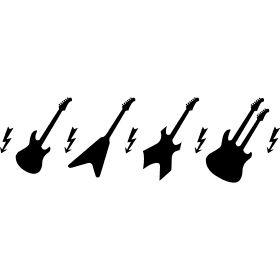 Elektro Gitarren - Verschiedene Typen von Elektro Gitarren. Des Kult Instruments der Rock und Pop Musik.