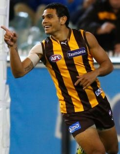 Cyril Rioli started Friday night's clash with West Coast as a surprise sub.