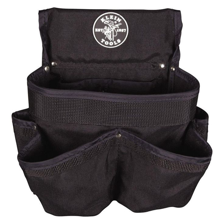 8-Pocket Electrician's Tool Pouch, Black