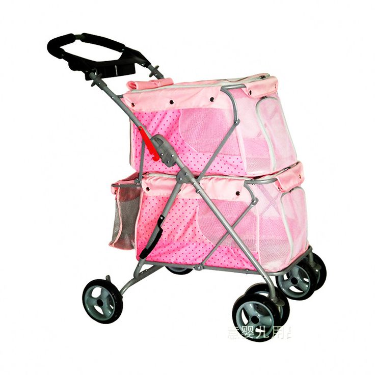 multifunctional cat dog strollers pet stroller for 2 dogs within 25KG car high quality pet gear for sale Orange / Pink / Khaki