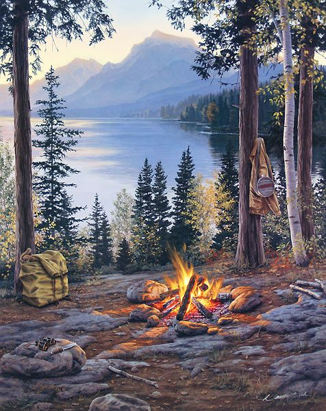 78+ images about PAINTINGS-Mountains and streams on ...