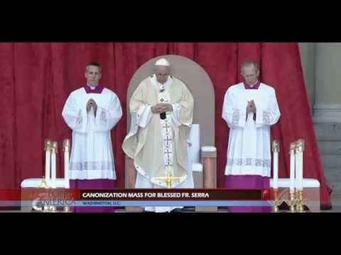 FULL Pope Francis Canonization Mass, Basilica, Junipero Serra, Joe Biden...