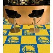 Show the champion in you! Now you can showcase a winning team in your mancave with the Golden State Warriors carpet tiles.