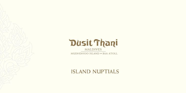Dusit Thani Maldives  -  Weddings 2015 Island Nuptials  Weddings  Host the event of your lifetime in a place you will treasure forever. Exchange wedding vows on a secluded white sand beach surrounded by a clear turquoise lagoon. The perfect island wedding on untouched natural beauty starts here at Dusit Thani Maldives. Allow our professional team to transform your dream wedding into reality.  Options at the resort are limitless to canvas the perfect wedding experience. Whether it is on a ...