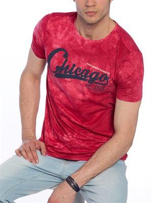 Red Regular Printed Crew Neck T-Shirt, Urun kodu: 7YI886Z8-J4L,Fit:Regular,Design:Printed,Product Type:T-shirts,Neck Type:Crew Neck,Main Fabric:%100 Cotton,