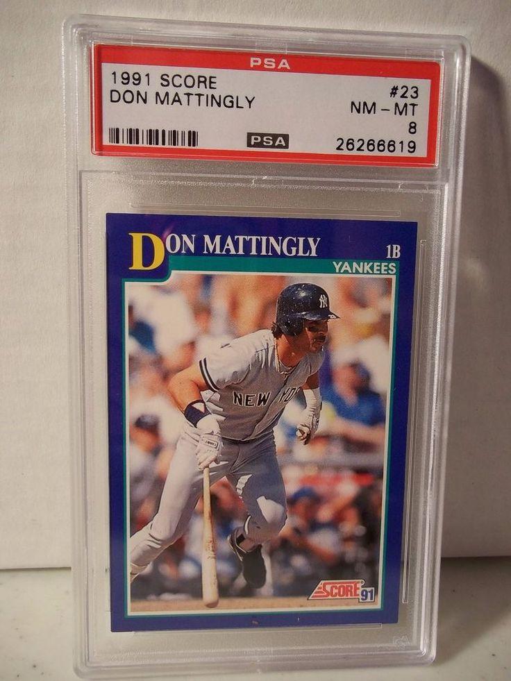 1991 Score Don Mattlingly PSA NMMT 8 Baseball Card 23