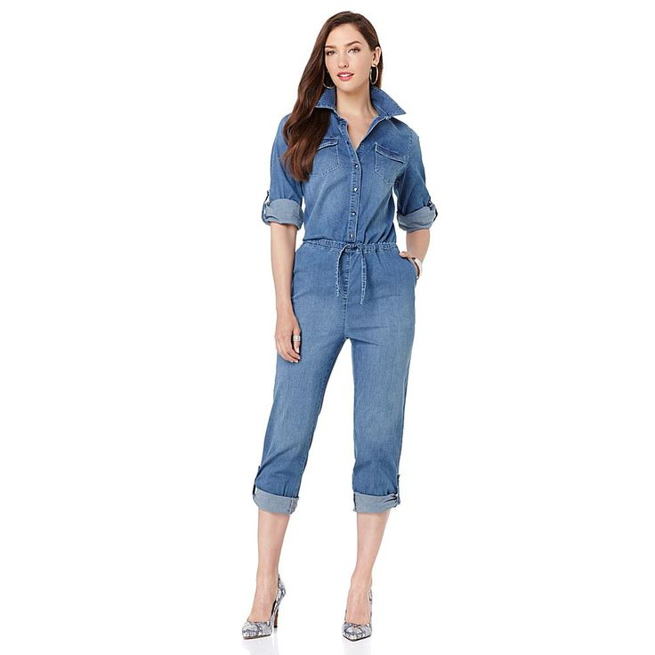 Wendy Williams Denim Jumpsuit - Blue Denim