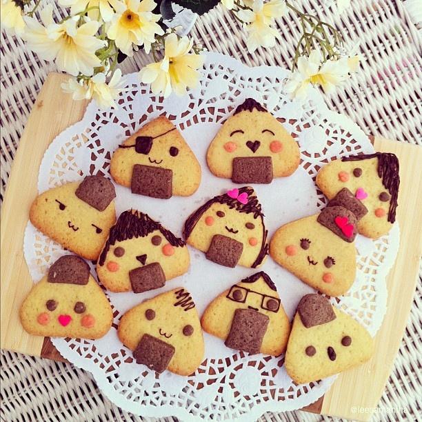 Onigiri Cookies- @leesamantha- #instagram #kyaraben