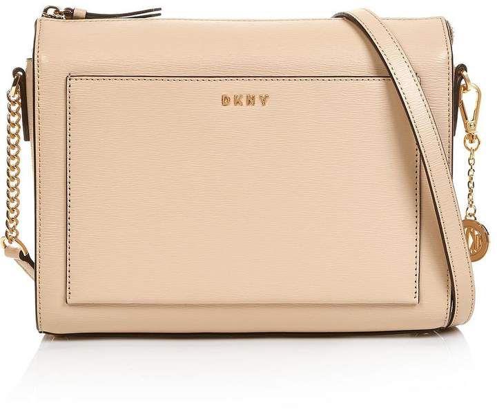9c2d1bfe3201 DKNY Bryant Medium Sutton Box Cross-Body Bag- Taupe