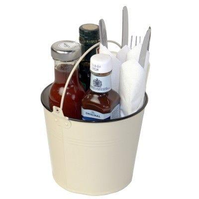 Cream Condiment & Cutlery Bucket #Restaurant #Kitchen #Cutlery #Storage www.bhma.co.uk