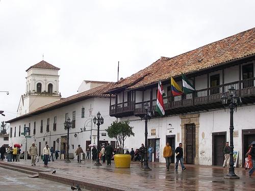 Tunja, Boyaca, Colombia Plaza de la gobernación.
