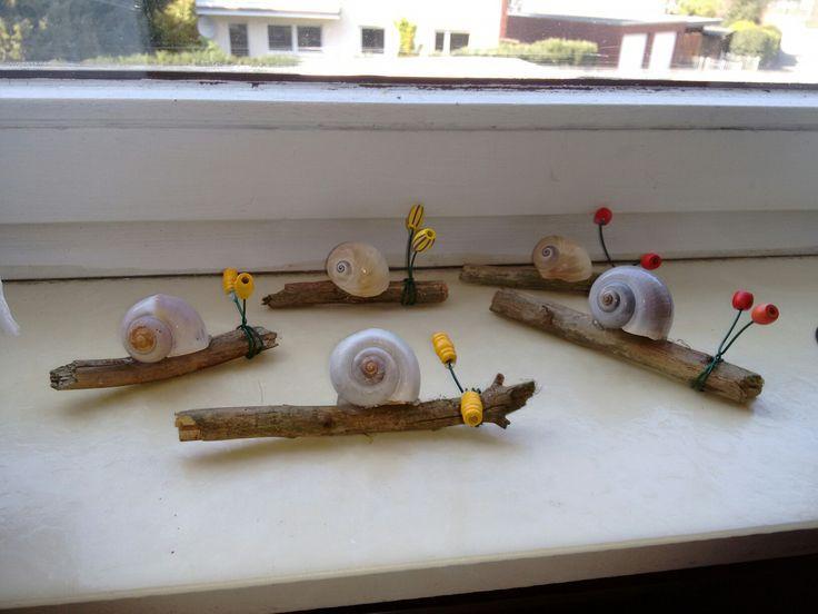 Schnecken – Basteln mit Kindern – #basteln #Kindern #mit #Schnecken