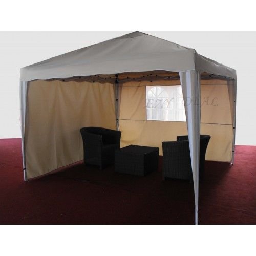 3X3M Pop Up Gazebo Folding Tent Market Marquee Party Canopy Outdoor Shade * Beige