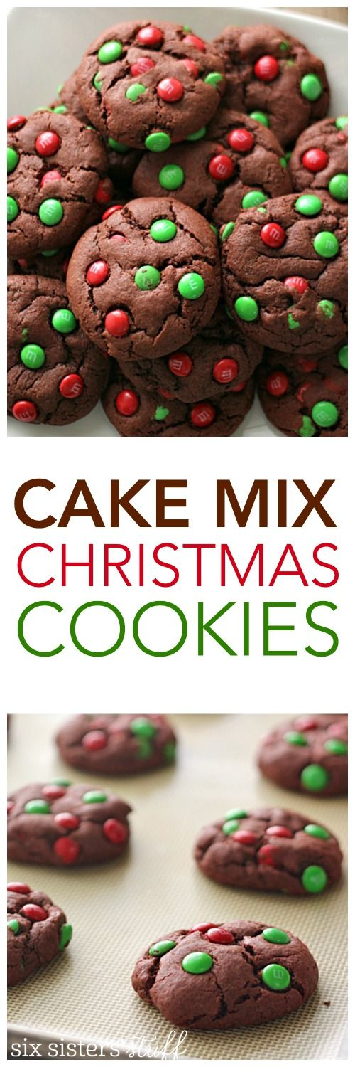 Cake Mix Christmas Cookies on SixSistersStuff.com